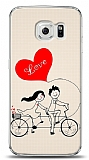 Samsung Galaxy S6 edge Love Bike Couple Kılıf