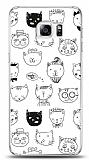 Samsung Galaxy S6 Edge Plus Cats Resimli Kılıf