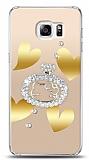 Samsung Galaxy S6 Edge Plus Lovely Kitty Taşlı Kılıf