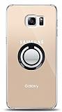Samsung Galaxy S6 Edge Plus Siyah Tutuculu Şeffaf Kılıf