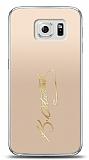 Samsung Galaxy S6 Gold Atatürk İmza Kılıf
