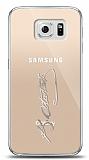Samsung Galaxy S6 Silver Atatürk İmza Kılıf