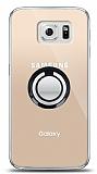 Samsung Galaxy S6 Siyah Tutuculu Şeffaf Kılıf