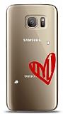 Samsung Galaxy S7 3 Taş Love Kılıf