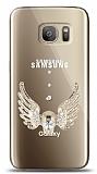 Samsung Galaxy S7 Angel Death Taşlı Kılıf