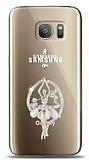 Samsung Galaxy S7 Balerin Taşlı Kılıf