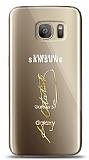 Samsung Galaxy S7 Edge Gold Atatürk İmza Kılıf