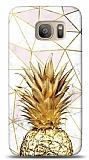 Samsung Galaxy S7 Edge Gold Pineapple 2 Resimli Kılıf