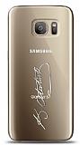 Samsung Galaxy S7 Edge Silver Atatürk İmza Kılıf