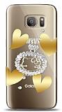 Samsung Galaxy S7 Lovely Kitty Taşlı Kılıf