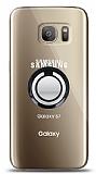 Samsung Galaxy S7 Siyah Tutuculu Şeffaf Kılıf