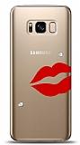 Samsung Galaxy S8 3 Taş Dudak Kılıf