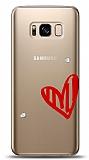Samsung Galaxy S8 3 Taş Love Kılıf