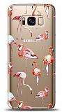 Samsung Galaxy S8 Flamingo Resimli Kılıf