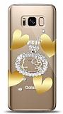 Samsung Galaxy S8 Lovely Kitty Taşlı Kılıf