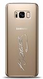 Samsung Galaxy S8 Silver Atatürk İmza Kılıf