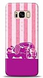 Samsung Galaxy S8 Vintage Car Pink Kılıf