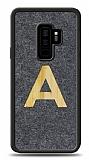 Samsung Galaxy S9 Plus Kişiye Özel Tek Harf Doğal Mermer ve Bambu Kılıf