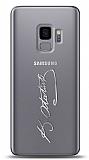 Samsung Galaxy S9 Silver Atatürk İmza Kılıf