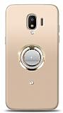 Samsung Grand Prime Pro Gold Tutuculu Taşlı Şeffaf Kılıf