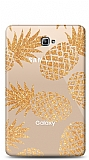 Samsung T580 Galaxy Tab A 10.1 2016 Gold Pineapple Resimli Kılıf