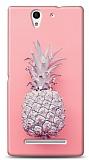 Sony Xperia C3 Pink Ananas Kılıf