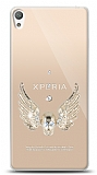 Sony Xperia E5 Angel Death Taşlı Kılıf
