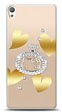 Sony Xperia E5 Lovely Kitty Taşlı Kılıf