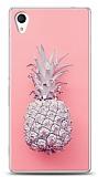 Sony Xperia M4 Aqua Pink Ananas Kılıf
