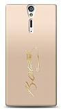 Sony Xperia S Gold Atatürk İmza Kılıf