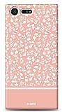 Sony Xperia X Compact Pink Flower Kılıf