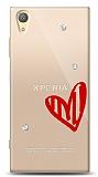 Sony Xperia XA1 Plus 3 Taş Love Kılıf