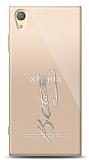 Sony Xperia XA1 Plus Silver Atatürk İmza Kılıf