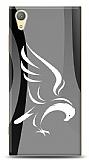 Sony Xperia XA1 Plus Siyah Beyaz Kartal Kılıf