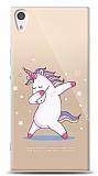 Sony Xperia XA1 Ultra Dab Unicorn Resimli Kılıf