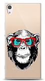 Sony Xperia XA1 Ultra Hipster Monkey Resimli Kılıf