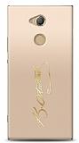 Sony Xperia XA2 Ultra Gold Atatürk İmza Kılıf