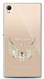 Sony Xperia Z1 Angel Death Taşlı Kılıf