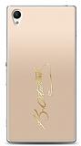 Sony Xperia Z1 Gold Atatürk İmza Kılıf