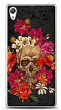 Sony Xperia Z3 Plus Roses Skull 1 Kılıf