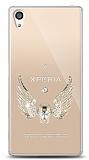 Sony Xperia Z5 Premium Angel Death Taşlı Kılıf