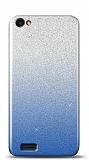 Vestel Venus Go / E2 Plus Simli Mavi Silikon Kılıf