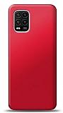 Xiaomi Mi 10 Lite Kırmızı Mat Silikon Kılıf