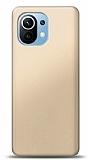 Xiaomi Mi 11 Gold Mat Silikon Kılıf