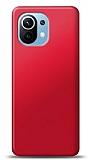 Xiaomi Mi 11 Kırmızı Mat Silikon Kılıf