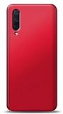 Xiaomi Mi 9 Lite Kırmızı Mat Silikon Kılıf