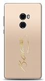 Xiaomi Mi Mix 2 Gold Atatürk İmza Kılıf