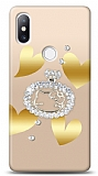 Xiaomi Mi Mix 2s Lovely Kitty Taşlı Kılıf