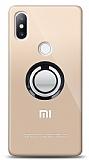 Xiaomi Mi Mix 2s Siyah Tutuculu Şeffaf Kılıf