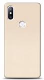 Xiaomi Mi Mix 2s Tam Kenar Koruma Gold Rubber Kılıf